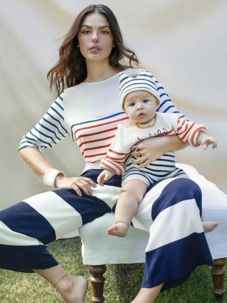 Isis Valverde mostra seu filho, Rael, em comemoração ao Dia das Mães - Karine Basilio/Ela/O Globo