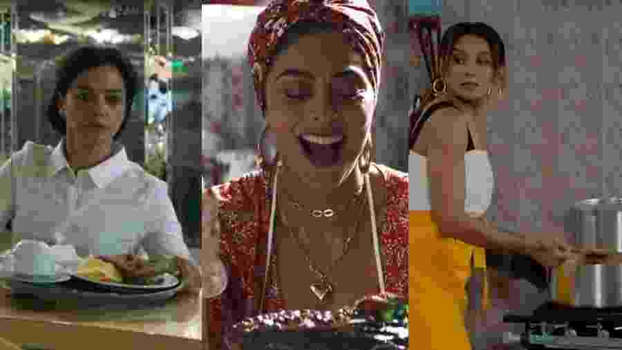 Missade (Ana Cecília Costa), Maria da Paz (Juliana Paes) e Janaína (Dira Paes): elas encontram a superação pela culinária - Reprodução/Globo