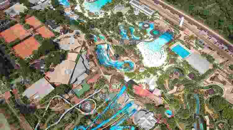Vista aérea do parque Thermas dos Laranjais  - Divulgação