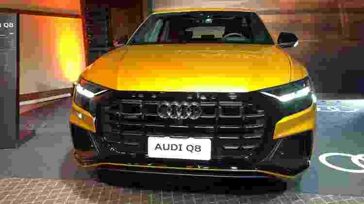 Modelo foi uma das atrações da Audi no Salão de SP - Alessandro Reis/UOL