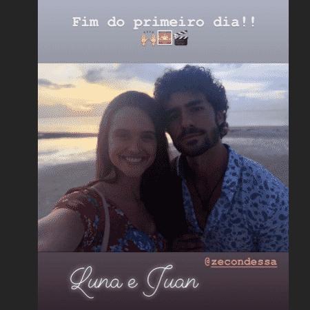 Juliana Paiva posta ao lado de José Condessa - Reprodução/Instagram