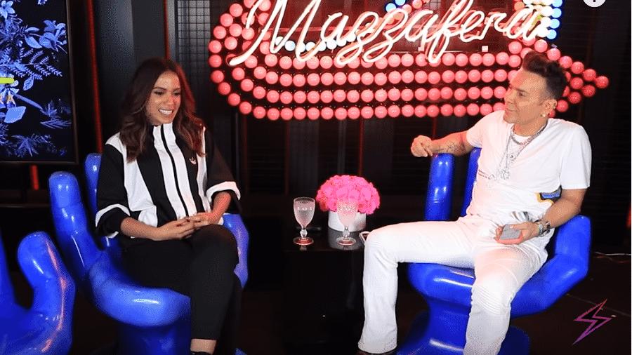 Anitta é entrevistada por Matheus Mazzafera - Reprodução/Instagram