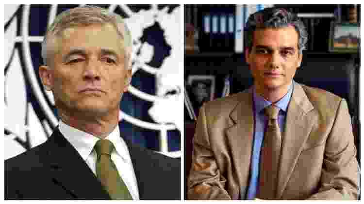 Sérgio Vieira de Mello ao lado de Wagner Moura o representando no filme 'Sergio' - Reuters e Divulgação/Netflix