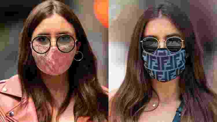 máscaras com logotipo ou estampa - Getty Images - Getty Images