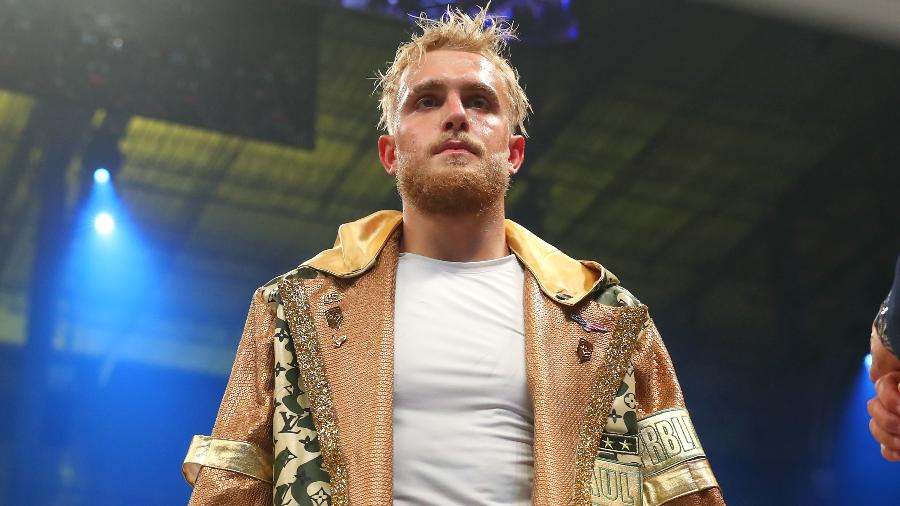 Jake Paul durante sua estreia como boxeador profissional, em Miami (EUA) - Icon Sportswire via Getty Images