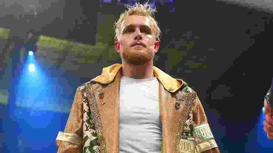 30.01.2020 - Jake Paul durante sua estreia como boxeador profissional, em Miami (EUA) - Icon Sportswire via Getty Images