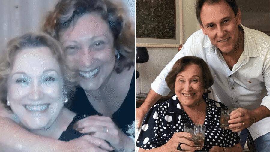 Bárbara Bruno e Paulo Goulart postaram fotos com a mãe, Nicette Bruno, assim como Beth Goulart - Reprodução/Instagram