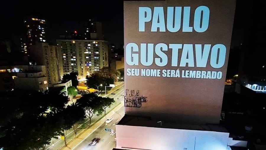Nome de Paulo Gustavo é projetado em prédio de São Paulo - Reprodução/Instagram
