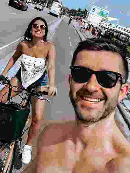 Drya Alves, 19 anos, do perfil @couple.miles e o namorado Nick - arquivo pessoal - arquivo pessoal