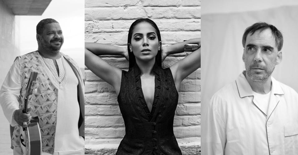 30.jun.2015 - Anitta, Arlindo Cruz e Arnaldo Antunes fazem show juntos no RJ