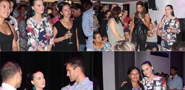 Katy Perry durante visita a um bar de Havana falou para membros do Centro Nacional de Educação Sexual (Cenesex):