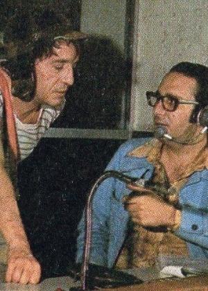 """Enrique Segoviano dirige Roberto Gómez Bolaños em """"Chaves"""", nos anos 1970 - Reprodução"""