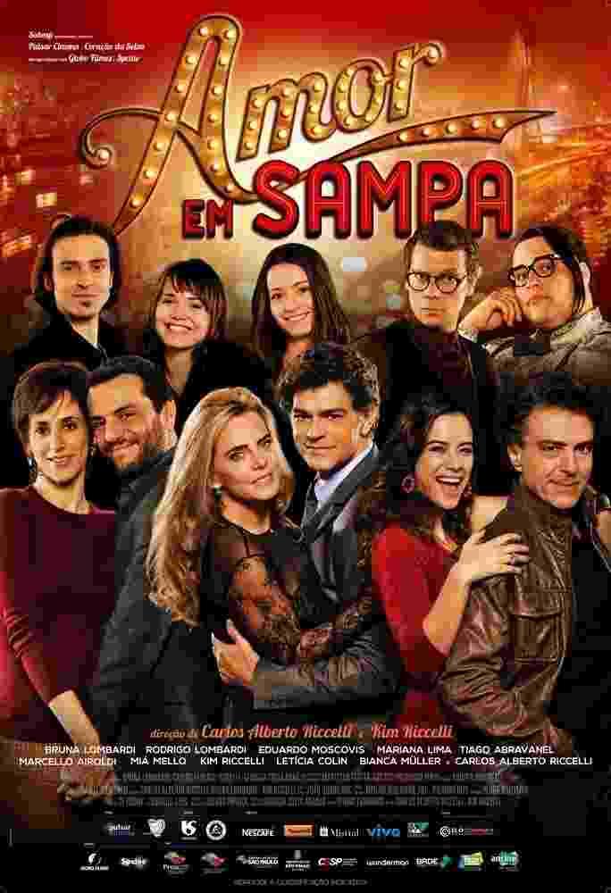"""Pôster de """"Amor em Sampa"""", dirigido por Carlos Alberto Riccelli e Kim Riccelli - Divulgação"""