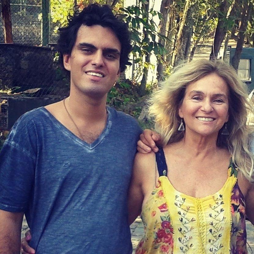 Rian Rizo e sua mãe, Brita Brazil