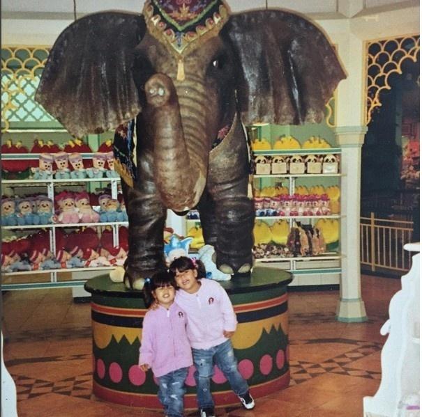 Giulia e a irmã mais nova Giovanna passaram a infância na Coreia do Sul