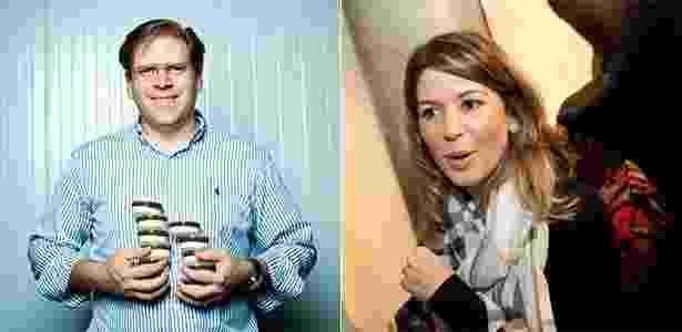 Marcelo Beirute, marido de Daniela, anuncia seus produtos do SBT - Folhapress/Montagem