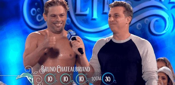 """Bruno Chateuabriand, supera os mais novos, ganha 3 notas 10 e lidera """"Saltibum"""" - Reprodução/TV Globo"""