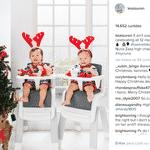 Leia e Lauren são duas pequenas gêmeas superfofas que estão encantando os seus seguidores no Instagram - Reprodução/Instagram