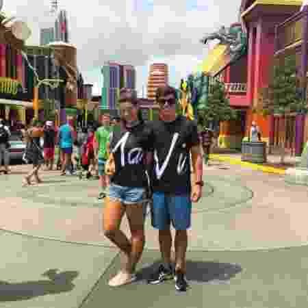 Manoel e Vivian na Disney - Reprodução/Instagram/manoelrafaski