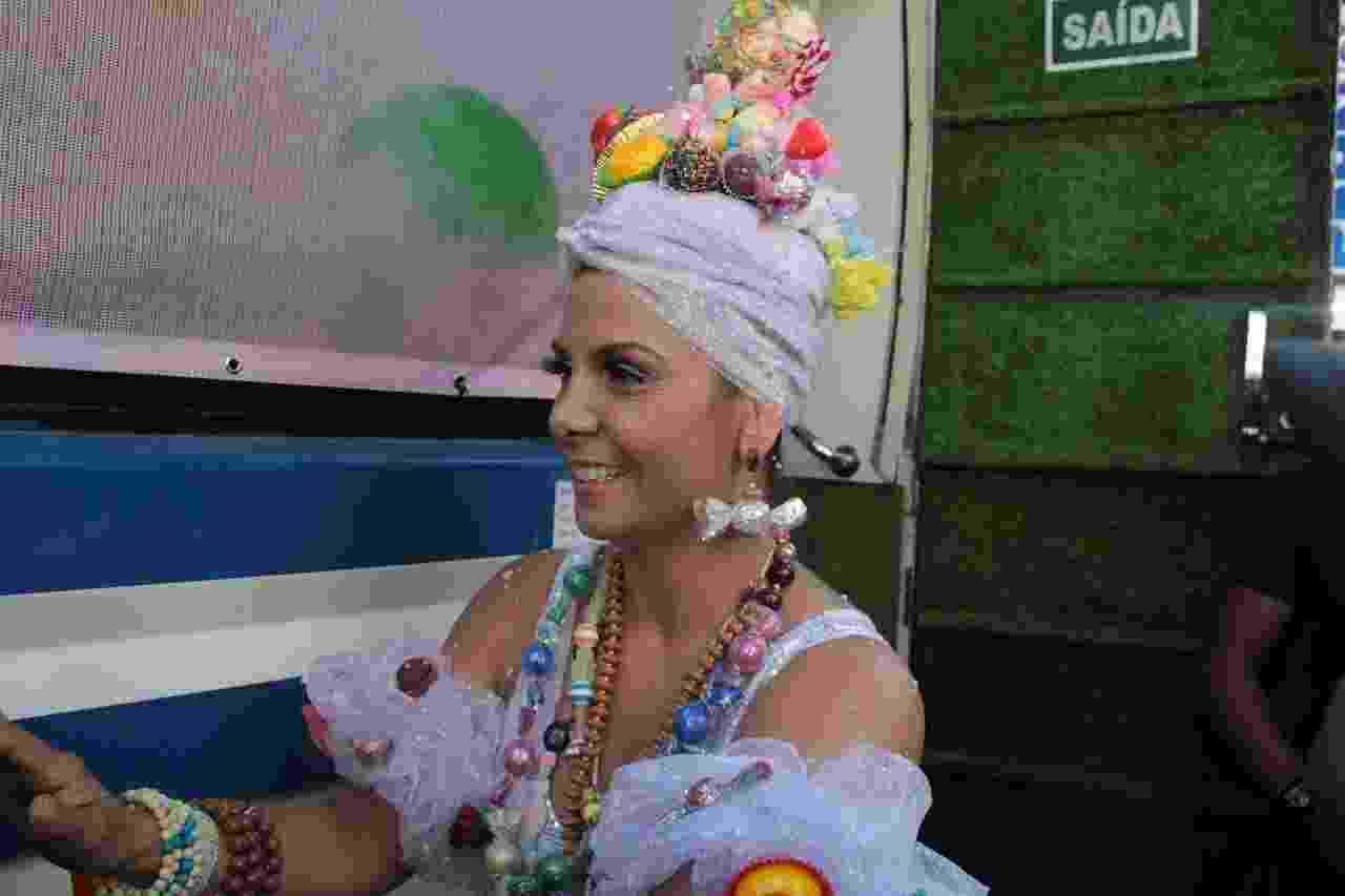 Carla Perez no trio do Pipoca Algodão Doce, em Salvador - JC Pereira/AgNews