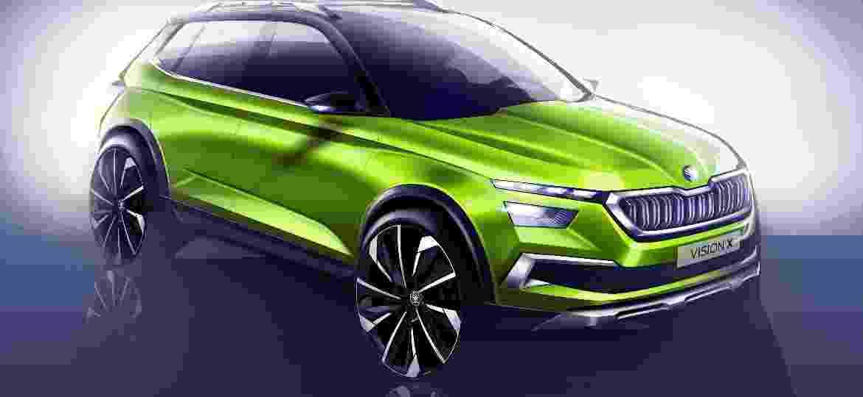 """Acredite: Skoda Vision X Concept (acima) """"esconde"""" um dos carros mais importantes do ano para o Brasil -"""