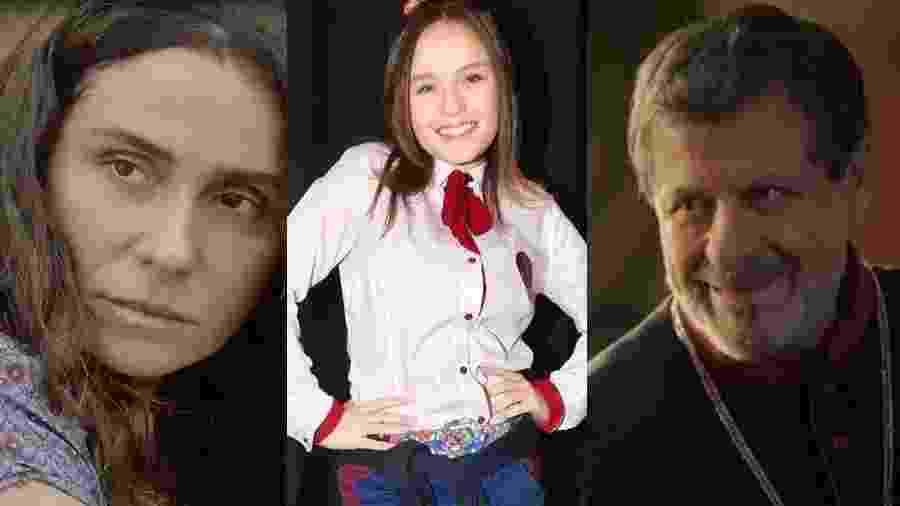 Giovanna Antonelli (Segundo Sol), Larissa Manoela (Poliana) e Flávio Galvão (Apocalipse) - Montagem UOL