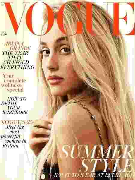 Ariana Grande para a Vogue britânica - Reprodução/Vogue
