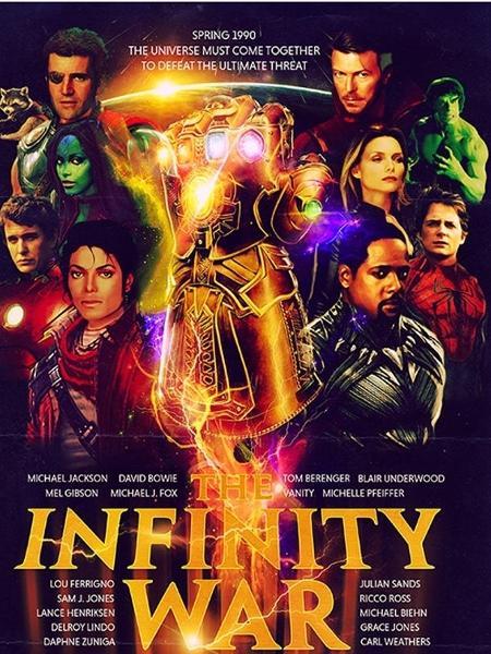 """""""Vingadores: Guerra Infinita"""" versão anos 90 - Reprodução"""