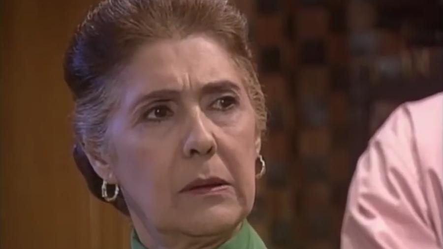 """Maximira Figueiredo como Rosália em """"Pérola Negra"""", novela do SBT - Reprodução/SBT"""