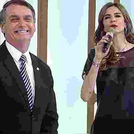 """Jair Bolsonaro em uma de suas vindas ao """"Superpop"""" - Reprodução Rede TV!"""