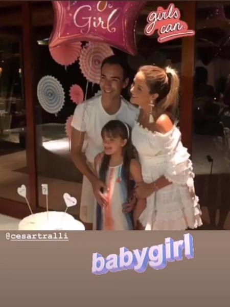 Tici Pinheiro e César Tralli revelam sexo do primeiro bebê do casal - Reprodução/Instagram