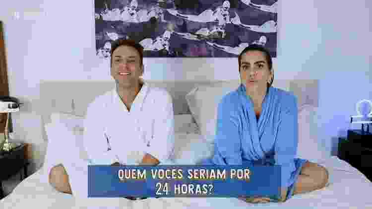 """Cleo é entrevistada por Matheus Mazzafera no """"Vídeo Show"""" - Reprodução/Globo - Reprodução/Globo"""