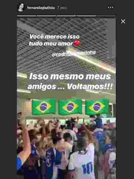 Fernanda Batista anuncia volta ao Brasil com o namorado, Rodriguinho - Reprodução/Instagram/fernandagbatista - Reprodução/Instagram/fernandagbatista