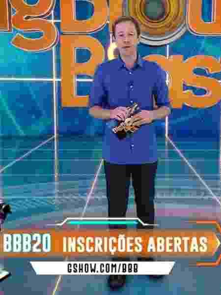 Tiago Leifert apresenta o BBB na Globo  - Reprodução/TvGlobo