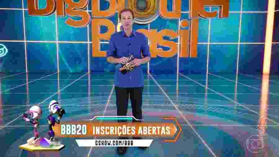 """Tiago Leifert anuncia que inscrições para o """"BBB20"""" já estão abertas  - Reprodução/TvGlobo"""