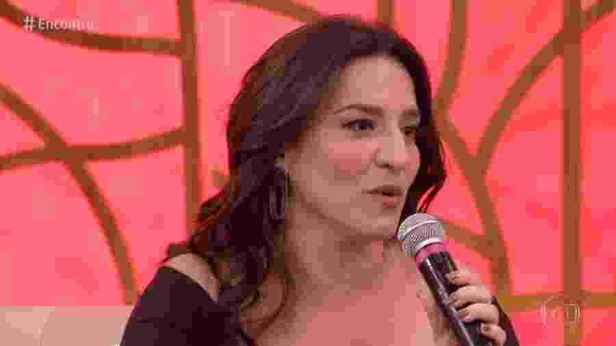 """Simone Gutierrez no """"Encontro"""" - Reprodução/Globo"""