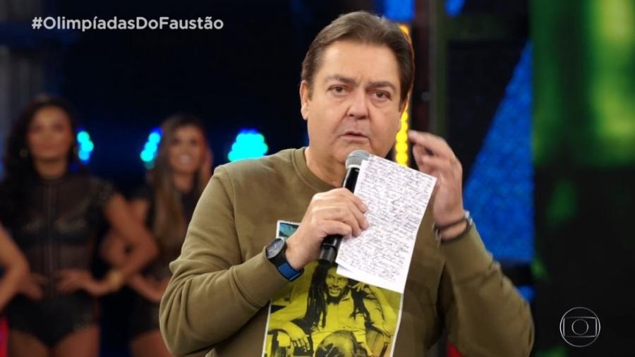 Faustão reclama de atraso em partida do Campeonato Brasileiro  - Reprodução/TV Globo