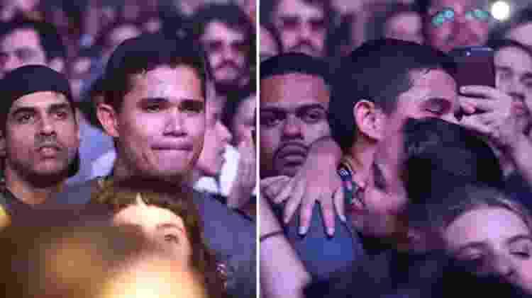 Clebson chora durante show de Lulu Santos no Rock in Rio - Reprodução/Instagram