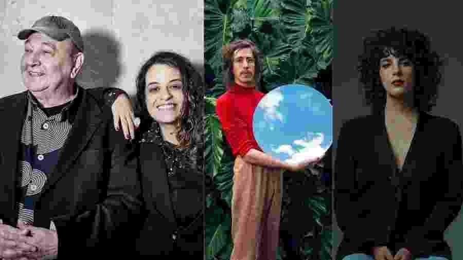 João Donato e Tulipa Ruiz, Tim Bernardes e Céu são atrações do Radioca, em Salvador - Montagem UOL