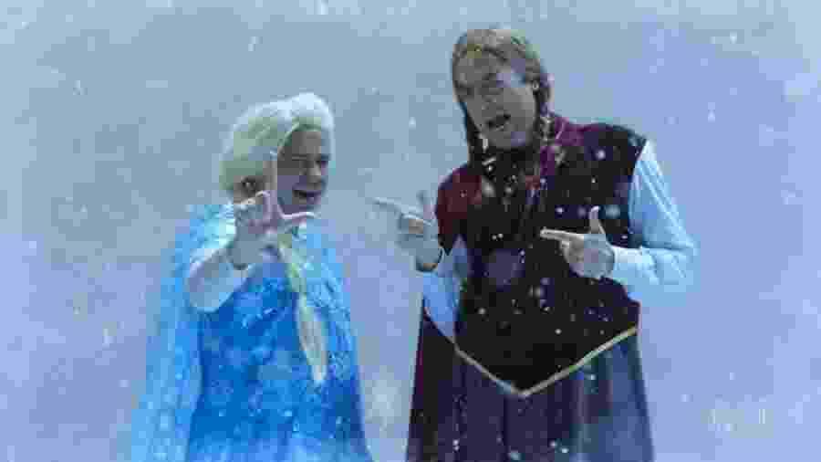 No Zorra, Lula e Bolsonaro cantam paródia de Livre Estou, do filme Frozen - Reprodução/TV Globo