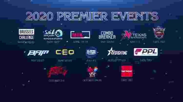 Torneios que farão parte da Capcom Cup em 2020 - Reprodução