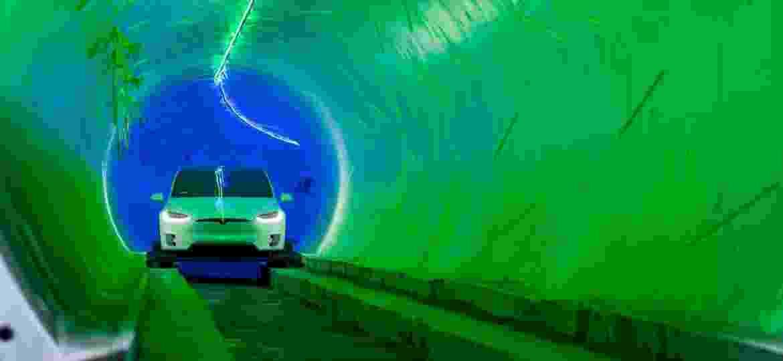 Túnel subterrâneo da The Boring Company - Divulgação