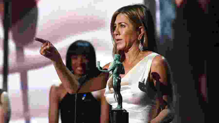 Jennifer Aniston durante o SAG Award 2020 - Getty Images for Turner