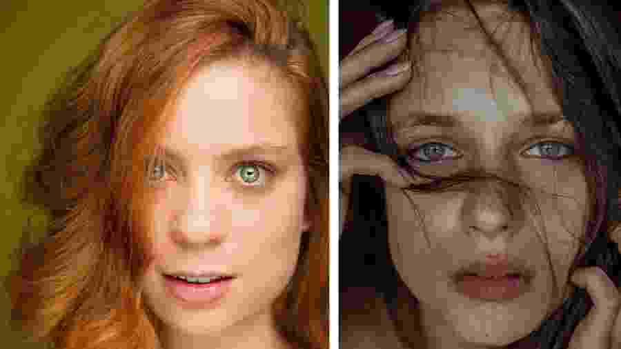 As irmãs Aurora (à esquerda) e Venusss trabalham com transmissões na webcam e compartilham a vida peculiar juntas - Reprodução