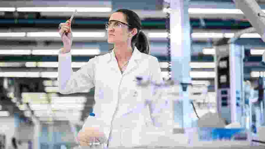 A cientista Pâmela Carpes, mãe e pesquisadora de fisiologia humana - Arquivo Pessoal