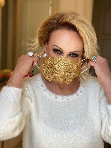 Ana Maria Braga mostra sua máscara - REPRODUÇÃO/INSTAGRAM