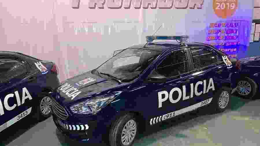 Ford Ka+ brasileiro vira viatura na Argentina - Divulgação