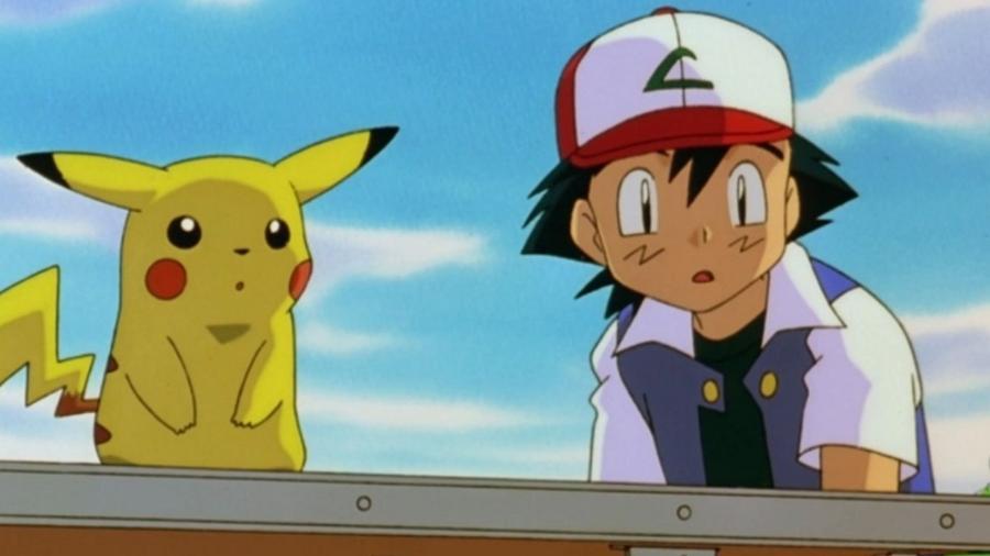 """Ash e Pikachu em """"Pokémon"""" - reprodução/Pokémon"""