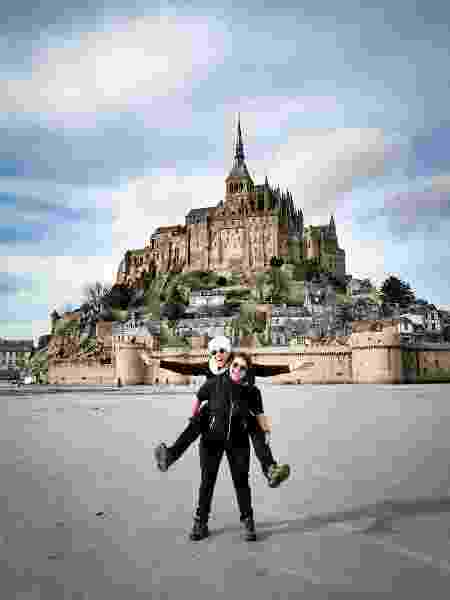 Casal em Mont Saint-Michel, na França - Arquivo pessoal - Arquivo pessoal