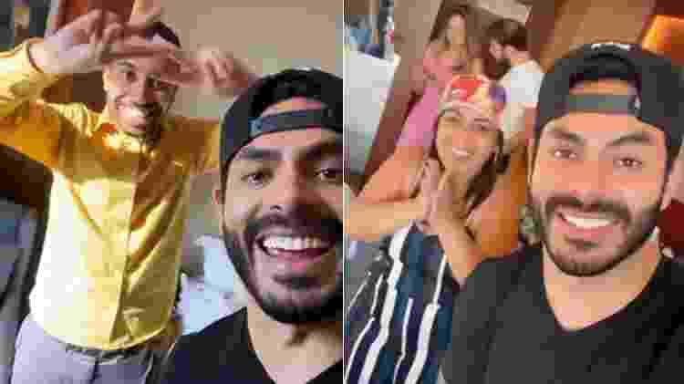 BBB 21: Rodolffo, Gilberto e a mãe, Jacira Santana - Reprodução/Instagram - Reprodução/Instagram